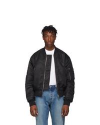 Acne Studios Acne S Black Makio Bomber Jacket