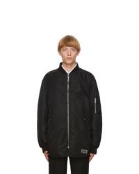 Valentino Black Insulated Bomber Jacket