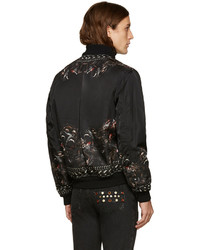 2377bae17 Givenchy Black Monkey Brothers Bomber Jacket, $3,290 | SSENSE ...
