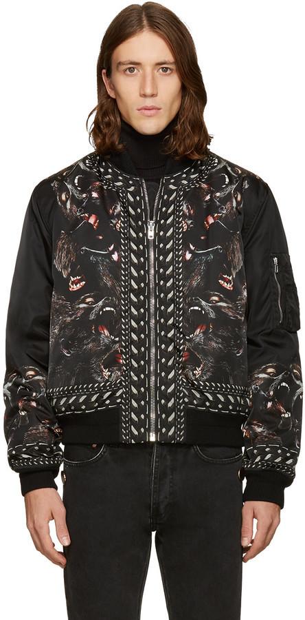 51a78f636 $3,290, Givenchy Black Monkey Brothers Bomber Jacket