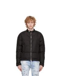 DSQUARED2 Black Nylon Biker Puffer Jacket