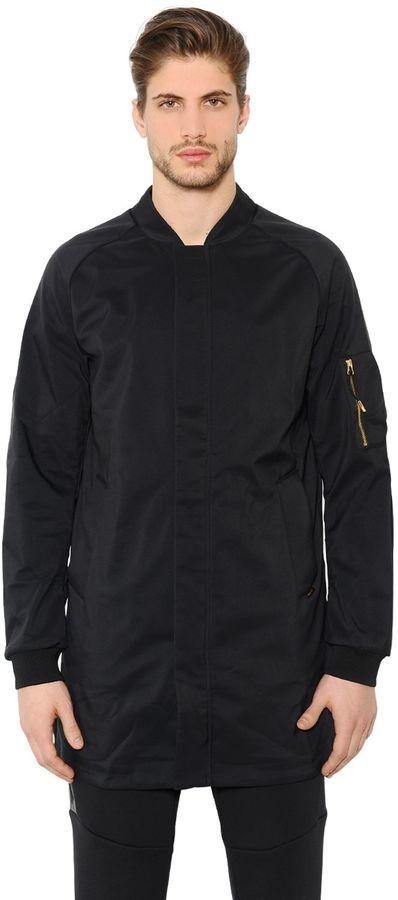 nike long bomber jacket