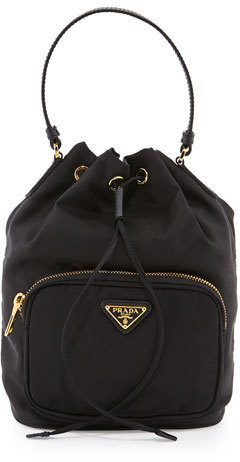 53c00c10127c Prada Tessuto Mini Bucket Crossbody Bag Black, $545 | Neiman Marcus ...