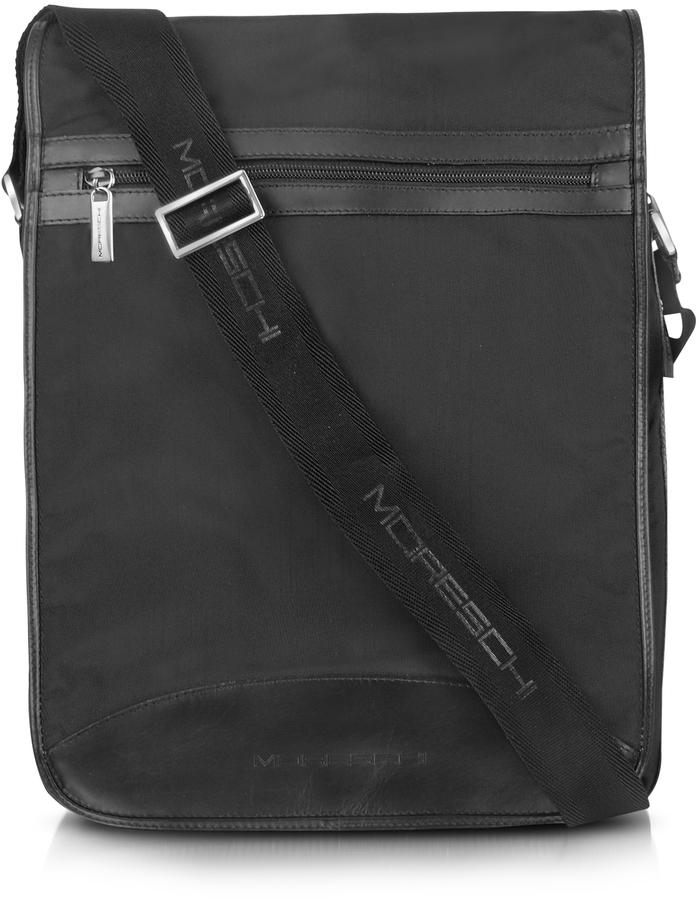 1e87a13234f Moreschi Black Techno Fabric Large Messenger Bag   Where to buy ...