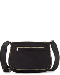 Neiman Marcus Charlie Nylon Messenger Crossbody Bag
