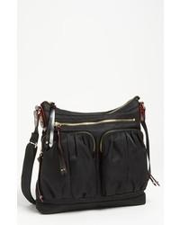 M Z Wallace Mia Nylon Crossbody Bag Black Bedford