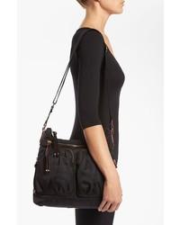 MZ Wallace Mia Bedford Nylon Crossbody Bag Black