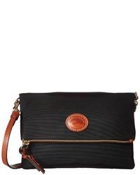 Dooney & Bourke Nylon Fold Over Zip Crossbody Handbags