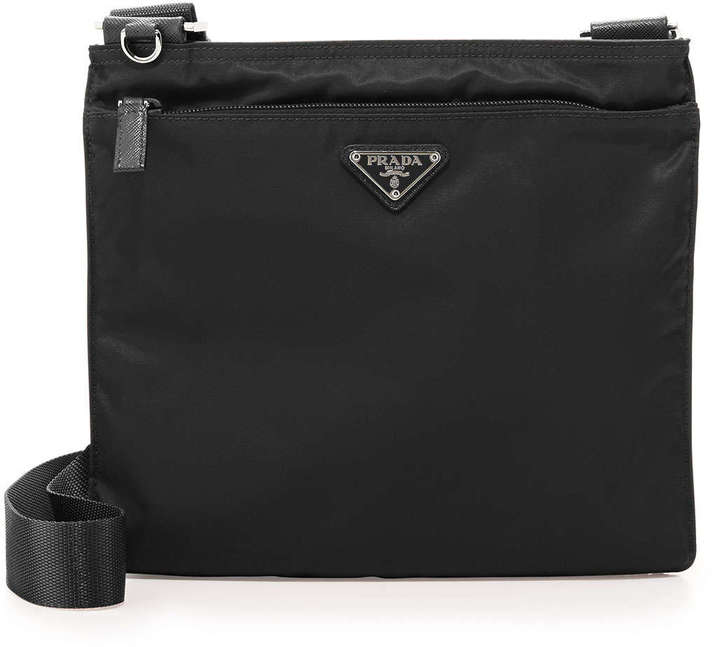 ee56dfb37b ... Prada Vela Flat Crossbody Bag Black ...