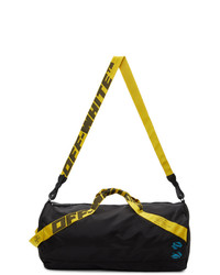 Off-White Black And Yellow Nylon Baby Duffle Bag