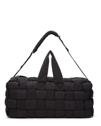 Bottega Veneta Black The Padded Hold All Duffle Bag