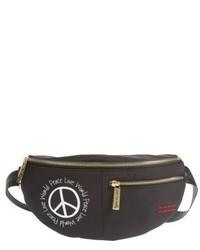 Peace Love World Nylon Belt Bag Green