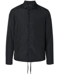 Black Nylon Shirt Jacket
