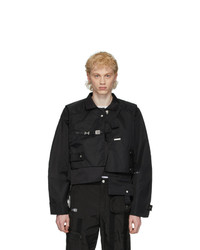 Heliot Emil Black Layered Jacket