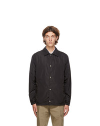 Givenchy Black Refracted Logo Coach Jacket