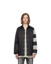 Rick Owens Black Snapfront Jacket