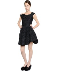 Simone Rocha Asymmetrical Shoulder Cloqu Dress