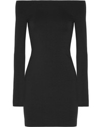 The Row Hunting Stretch Modal Blend Mini Dress Black