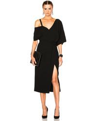Off-White Off Shoulder Fringe Dress