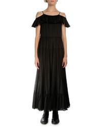 Saint Laurent Off The Shoulder A Line Dress