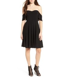 Leith Off The Shoulder Fit Flare Dress