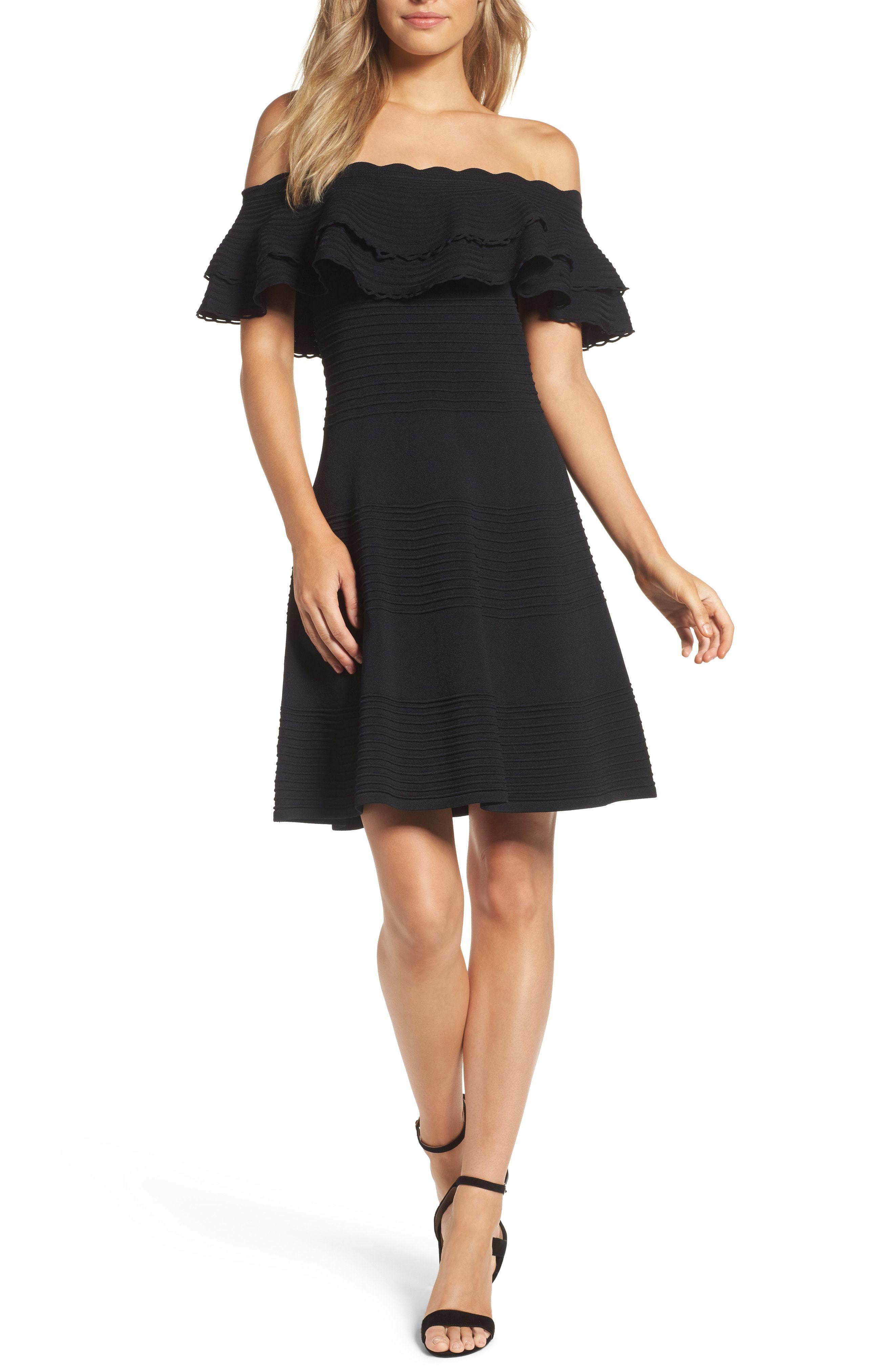 435ee9415204 Eliza J Off The Shoulder Fit Flare Dress, $82 | Nordstrom ...