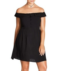 Pretty button fit flare dress medium 4952684