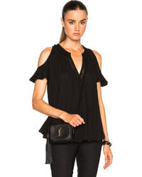 Derek Lam 10 Crosby Cold Shoulder Top