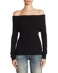 Ralph Lauren Collection Off The Shoulder Wool Top