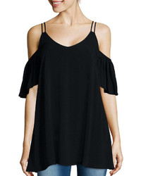 Decree Short Sleeve Cold Shoulder Top