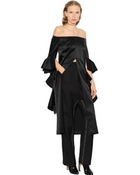 Ellery Stanley Off The Shoulders Silk Satin Top