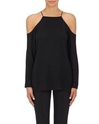The Row Krauss Cutout Shoulder Top Black