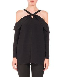 Proenza Schouler Long Sleeve Off Shoulder Knot Top