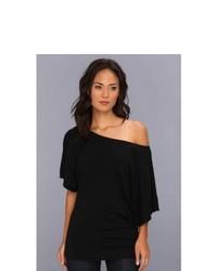 Michl stars ss slub off shoulder dolman dress black medium 269713