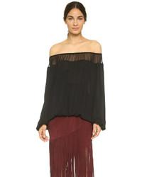 8f4f1259098 Tamara Mellon Silk Georgette Blouse Out of stock · Tamara Mellon Off Shoulder  Blouse