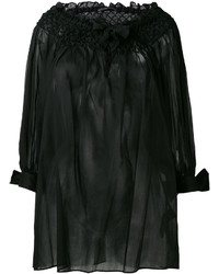 Ermanno Scervino Off Shoulders Sheer Blouse