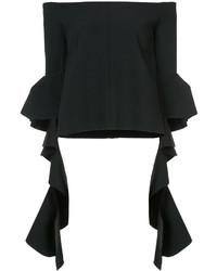 Ellery Off The Shoulder Cascade Sleeve Top