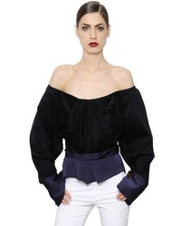 Vivienne Westwood Off The Shoulder Poplin Satin Top