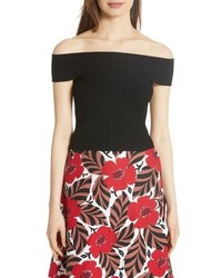 kate spade new york Off The Shoulder Rib Knit Sweater
