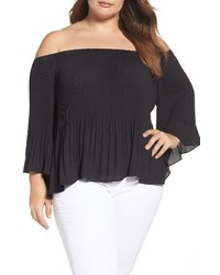 Plus size pleat off the shoulder blouse medium 3686415