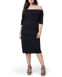 Rachel Roy Plus Size Fitted Off The Shoulder Top