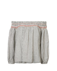 The Great Ruched Trim Off The Shoulder Top