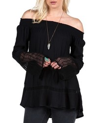 Volcom Ruff Crowd Off The Shoulder Top