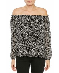 Sanctuary Chantel Slit Sleeve Off The Shoulder Top