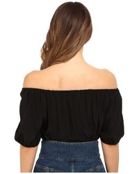 f619f757978cd ... RED Valentino Silk Crepe De Chine Off The Shoulder Blouse ...