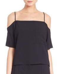 Alexander Wang T By Poly Crepe Off The Shoulder Top
