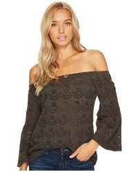Lucky Brand Washed Off The Shoulder Top Clothing