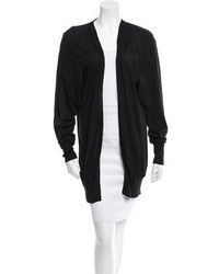 Gucci Black Open Front Cardigan