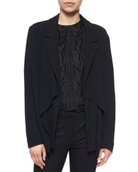 Jason Wu Draped Open Front Crepe Cardigan