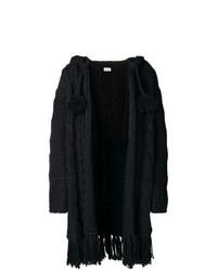 Saint Laurent Fringed Cable Knit Cardigan